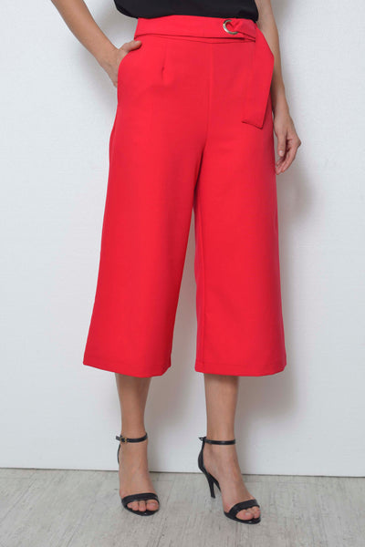 Basics-Dayne Cullotes  in Red