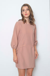 Basics-Bernice Dress in Brown