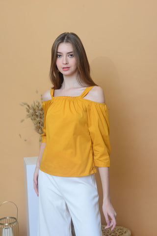 [BUY] Casual – Button Cuff Top in Mustard