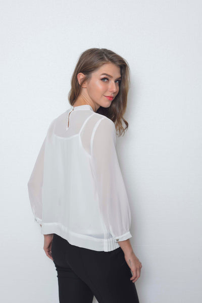 Basics-Dyanna Top in White