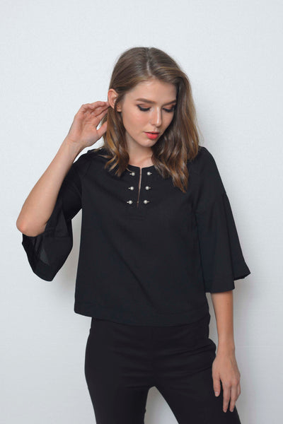 Basics-Eliott Top in Black