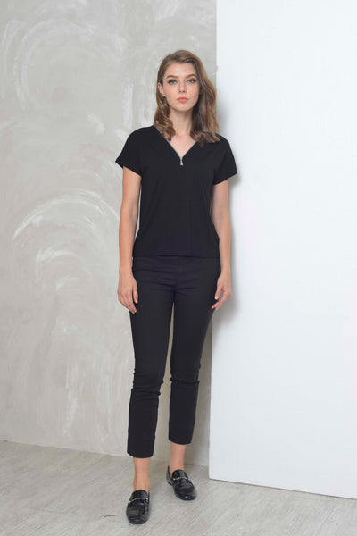 Basics-Alise Tee in Black