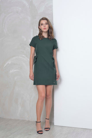 Basics-Arielle Dress in Green