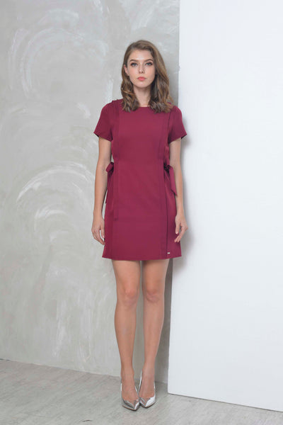 Basics-Arielle Dress in Maroon