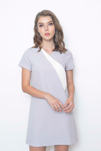 Casual-Adeline Dress in Grey