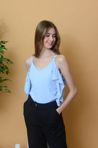 [BUY] Casual – Ruffled Camisole Top in Blue