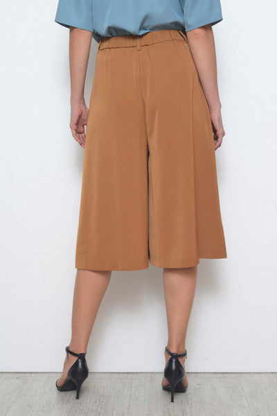 Casual-Fiane Cullotes  in Brown