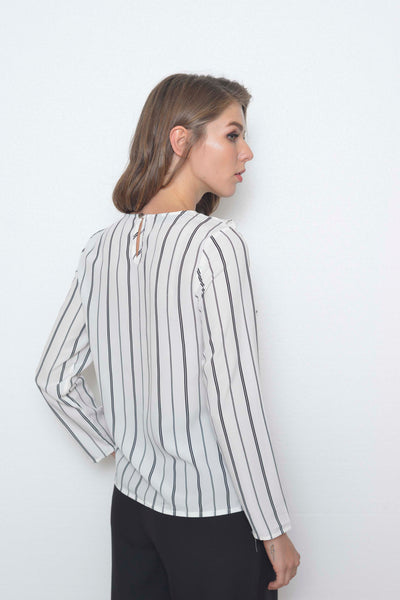 Basics-Mayne Top in White