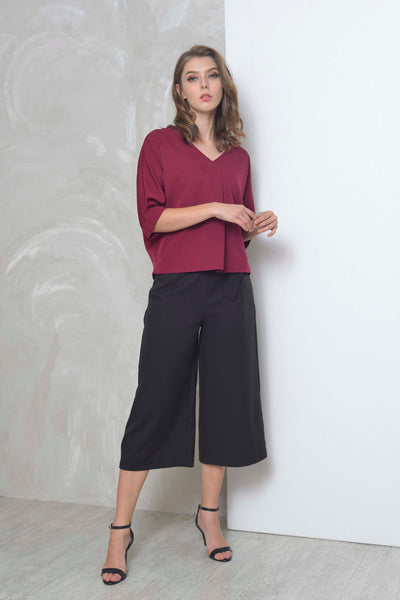 Basics-Denka Top in Maroon