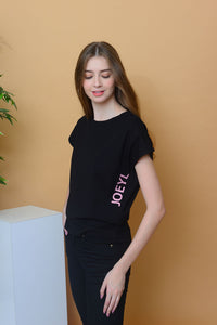 Casual - Joeyl Logo Tee in Black
