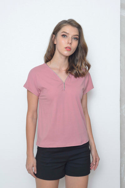 Basics-Alise Tee in Pink