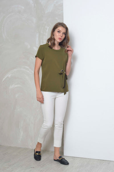 Basics-Evelyn Top in AR.Green