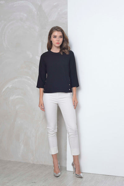 Basics-Bayley Top in Black