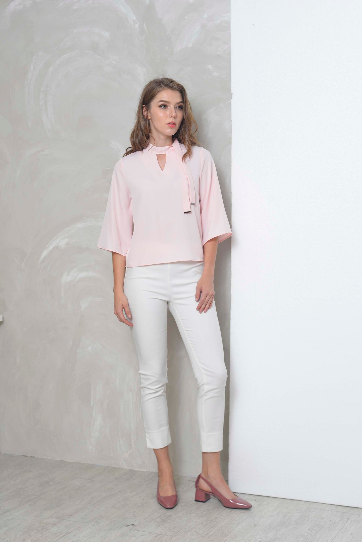 Basics-Belle Top in Pink
