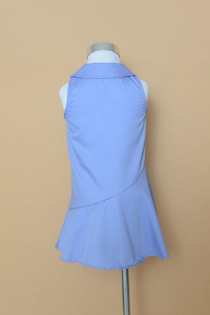 Mini Drop Hem Shift Dress in Blue