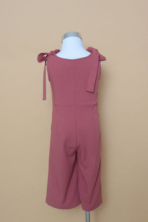 Mini Ribbon Jumpsuit in Pink