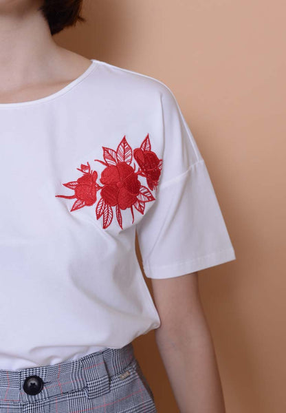 Casual-Embroidery Tee