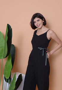 Collection –Asymmetric Jumpsuit in Black