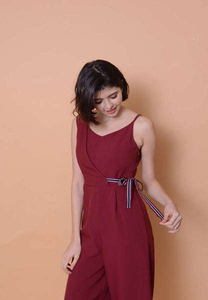 [BUY]Collection –Asymmetric Jumpsuit in Maroon