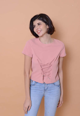 Casual – Front Tie Top in Pink