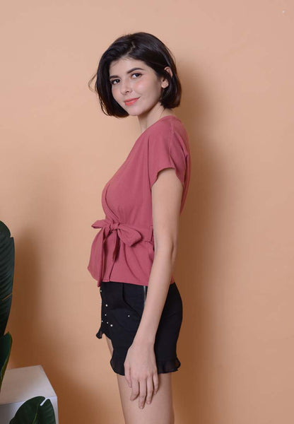Casual - Wrapped Top in Pink