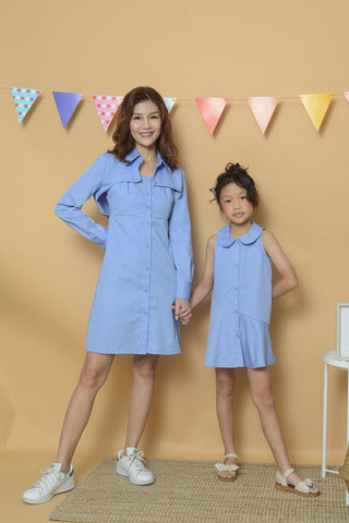Casual - Boni Tie Shirt Dress in Blue