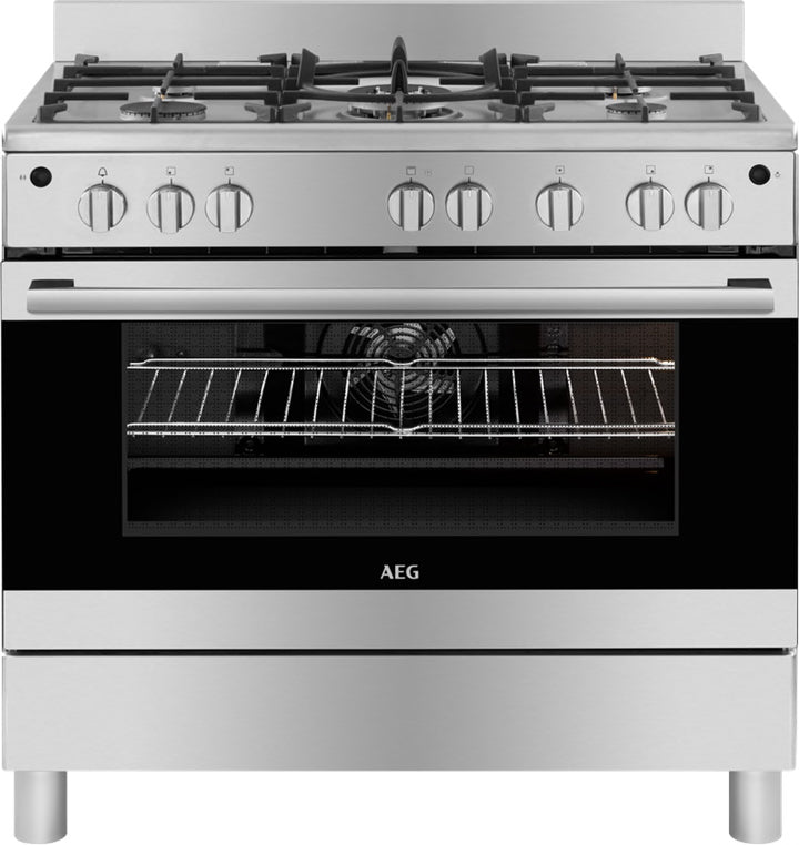 AEG 90CM GAS/ELECTRIC FREE STANDING COOKER - 10369GN-MN
