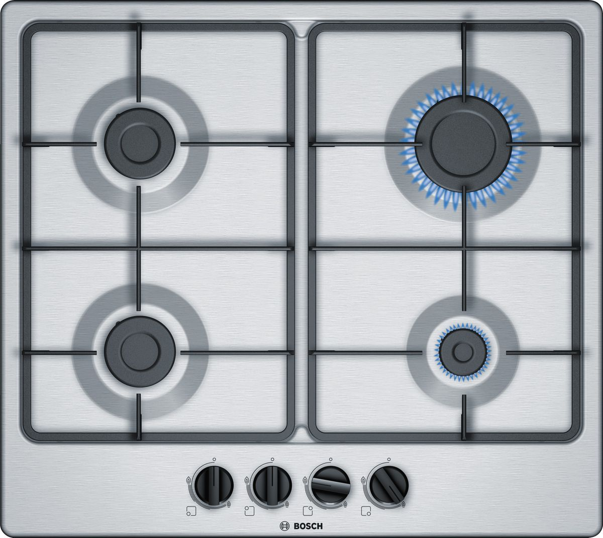 BOSCH 4 BURNER STAINLESS STEEL GAS HOB - PGP6B5B60Z