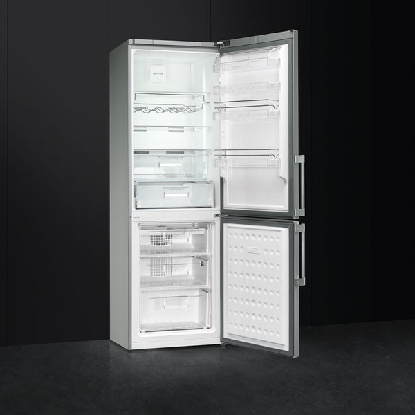 SMEG 335L STAINLESS STEEL FRIDGE/FREEZER COMBI - FC370X2PE