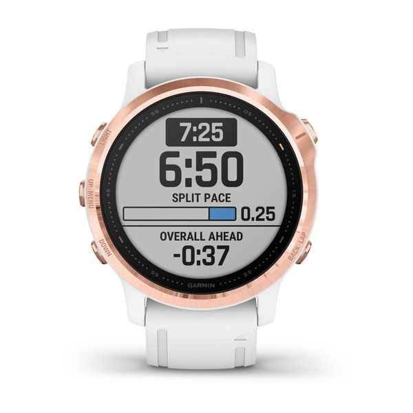 GARMIN FENIX 6X PRO SPORTS WATCH ROSE GOLD/WHITE BAND - 010-02159-12