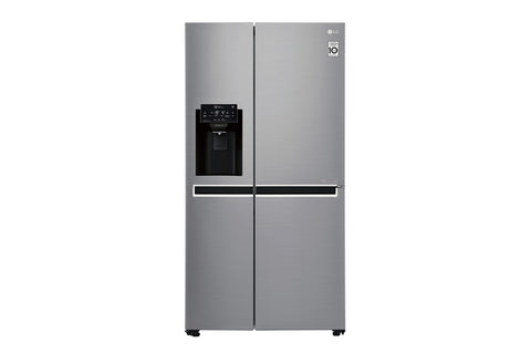 LG 600L SIDE BY SIDE FRIDGE WITH PLUMBED SLIM WATER 7 ICE DISPENSER - GC-L247SLUV