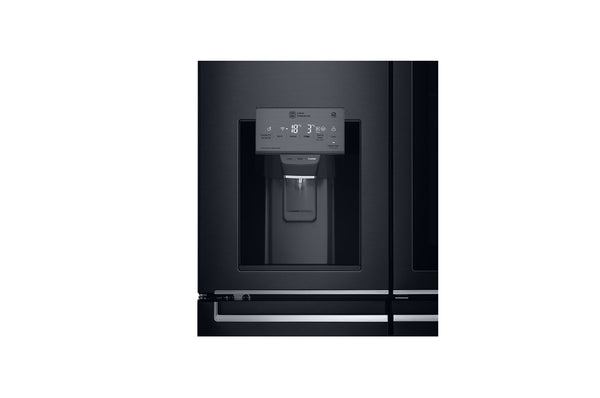 LG 716L 4 DOOR INSTAVIEW DOOR IN DOOR FRIDGE MATTE BLACK - GR-X31FTKHL