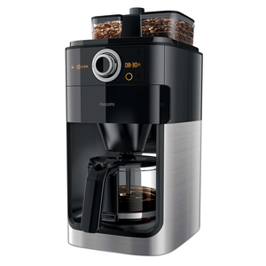 PHILIPS COFFEE MAKER GRIND & BREW BLACK - HD7762/00