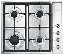 SMEG 60CM GAS HOB STAINLESS STEEL 4 BURNER - PS60GHC