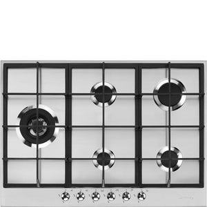 SMEG CLASSIC STAINLESS STEEL GAS HOB 5 BURNER - PX375LSA