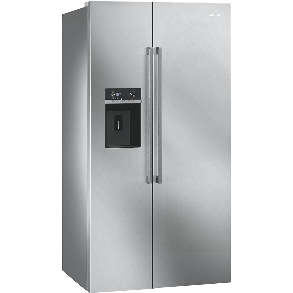 SMEG 616L S/STEEL SIDE-BY-SIDE FRIDGE FREEZER - SBS63XED