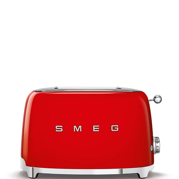 SMEG RETRO STYLE 2 SLICE TOASTER RED TSF01RDSA