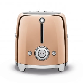 SMEG RETRO 2 SLICE TOASTER ROSE GOLD TSF01RGEU