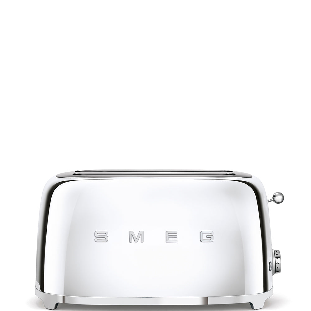 SMEG MIRRORED CHROME RETRO 4 SLICE TOASTER TSF02SSSA