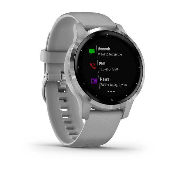 GARMIN VIVOACTIVE 4S GPS SPORT WATCH POWDER GREY/SILVER 40MM - 010-02172-02