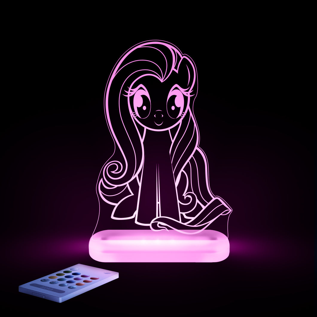 my little pony fluttershy multi color led starlight with remote