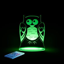Aloka Starlight Owl  Multi-Color LED Light with Remote Control