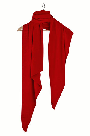 Stola Sghemba-AW20-KN Collection-Red-125x50-KN Kati Niemi