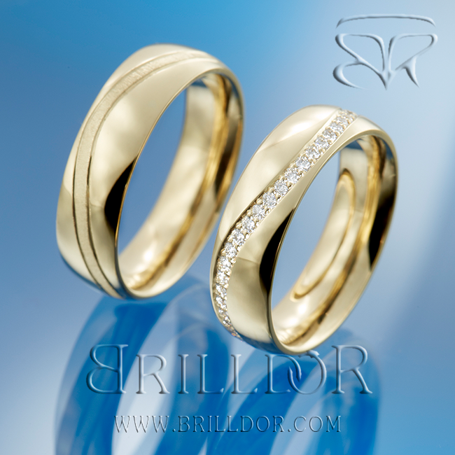 Stardust 2 Wedding Bands Brilldor