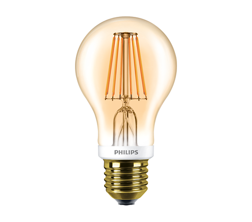 LEDClassic 7.5-60W A60 E27 2000K GOLD APR