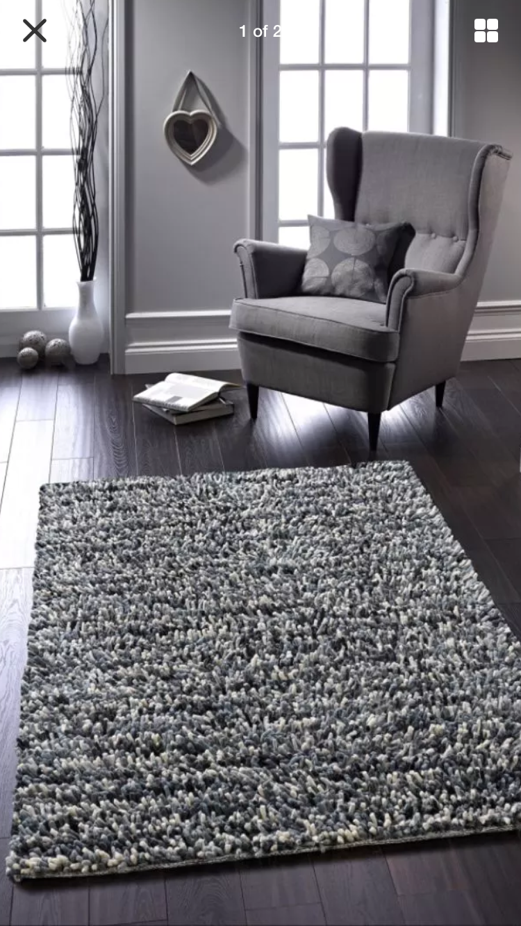 rug wool knotted visby felted hand white products black
