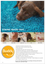 BUDDY- The Stain Resistant Washable Non Colour Fade Shaggy Rug Various Sizes & Shapes