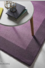 Origin Rug Colletion Borders Wool Rug Mauve