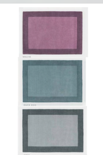 Origin Rug Collection Borders Wool Rug Duck Egg, Grey Mauve