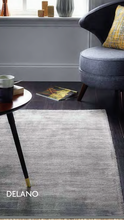 origin rug collection silk viscose delano rug Grey & Mink